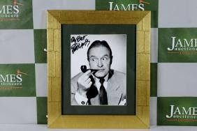 A Bob Hope signed picture, framed