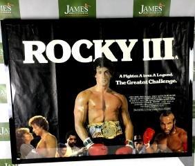 An original Rocky 3 promotional poster framed gloss