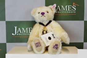 A Steiff diamond jubilee teddy bear, boxed &