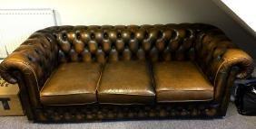 A genuine Thomas Lloyd Chesterfield three cushion