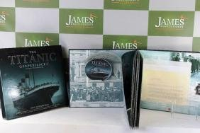 Nautical Titanic story collectable, DVD, bluprints,
