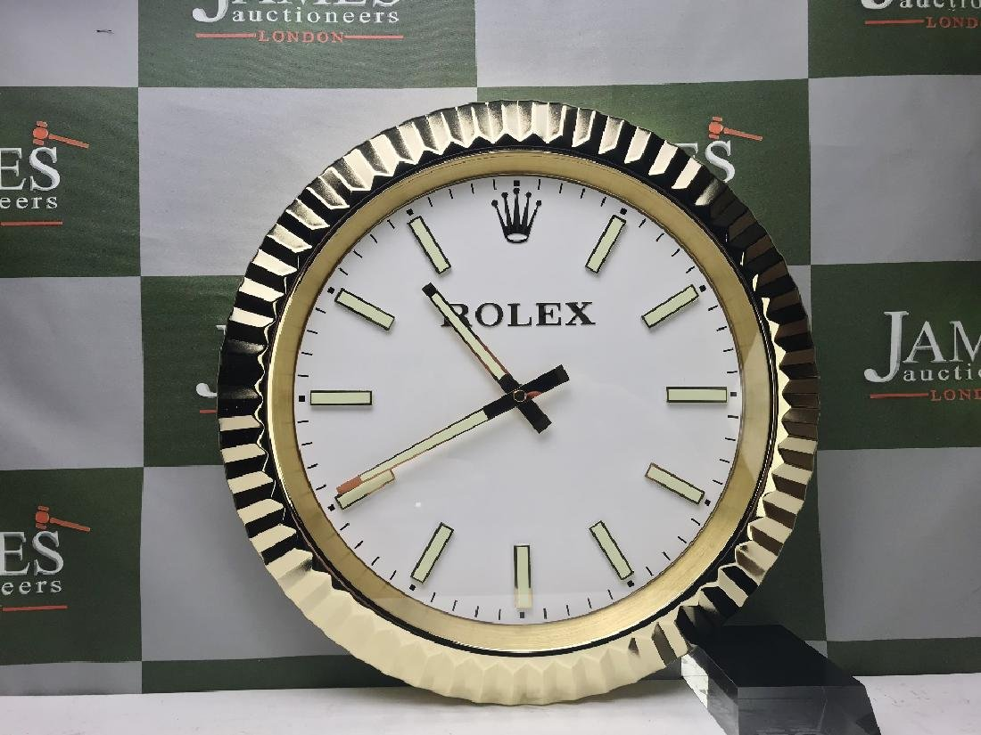 A Rolex wall clock - 2