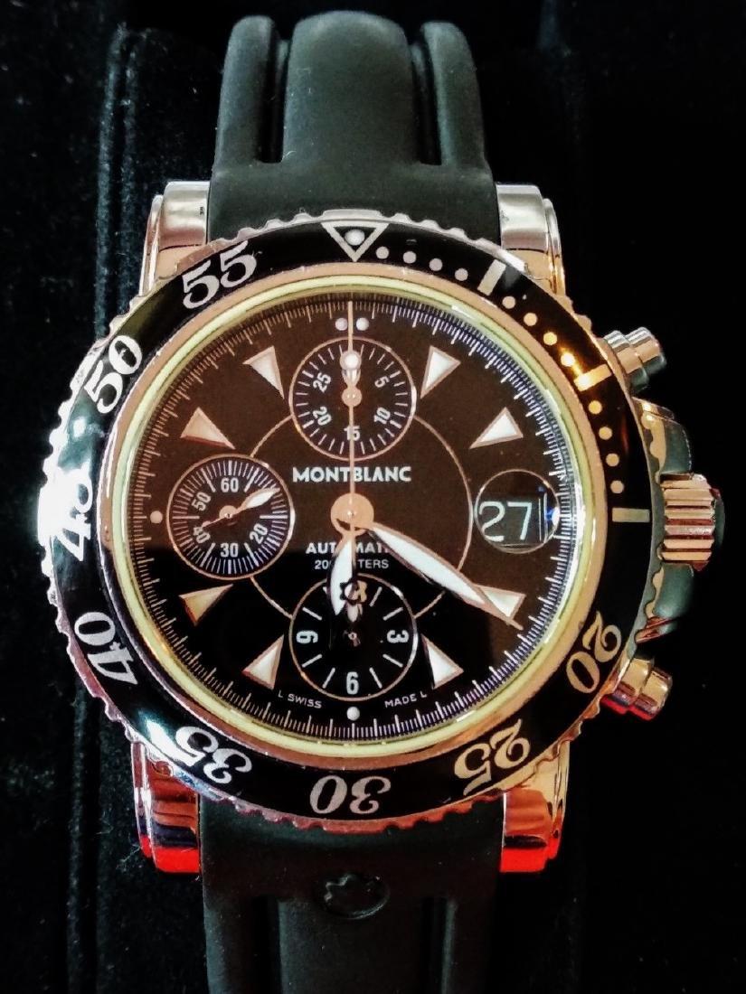 A gent`s Montblanc meisterstuck watch ref. 7034