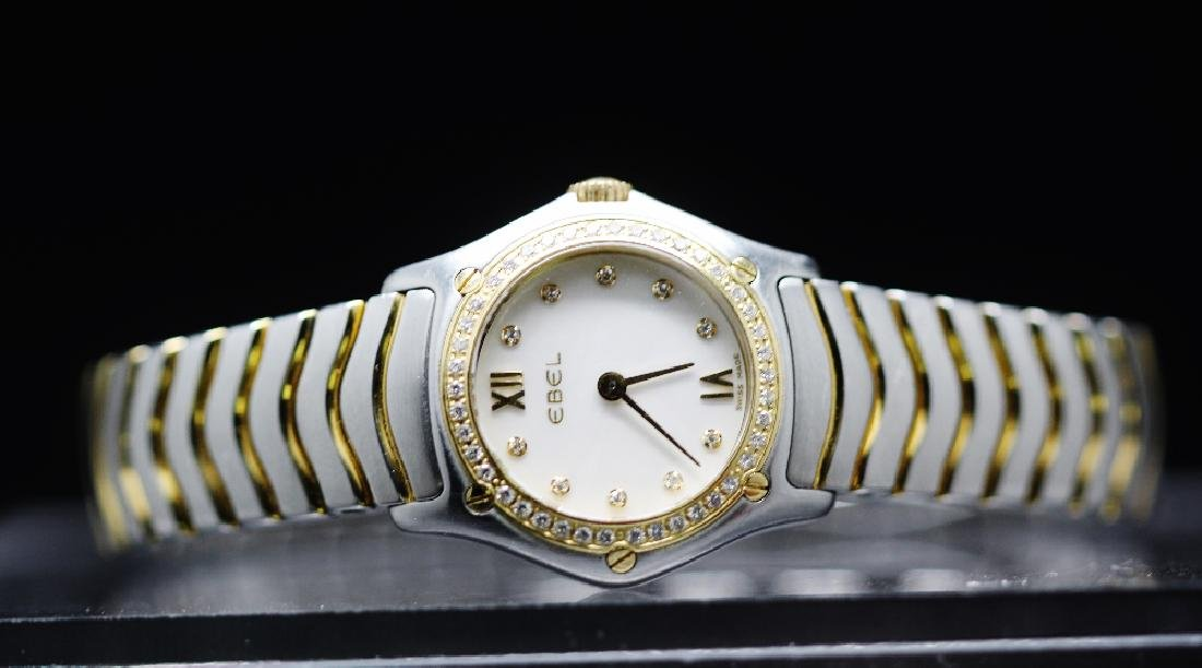 Ladies Ebel classic wave with rare factory diamonds rrp