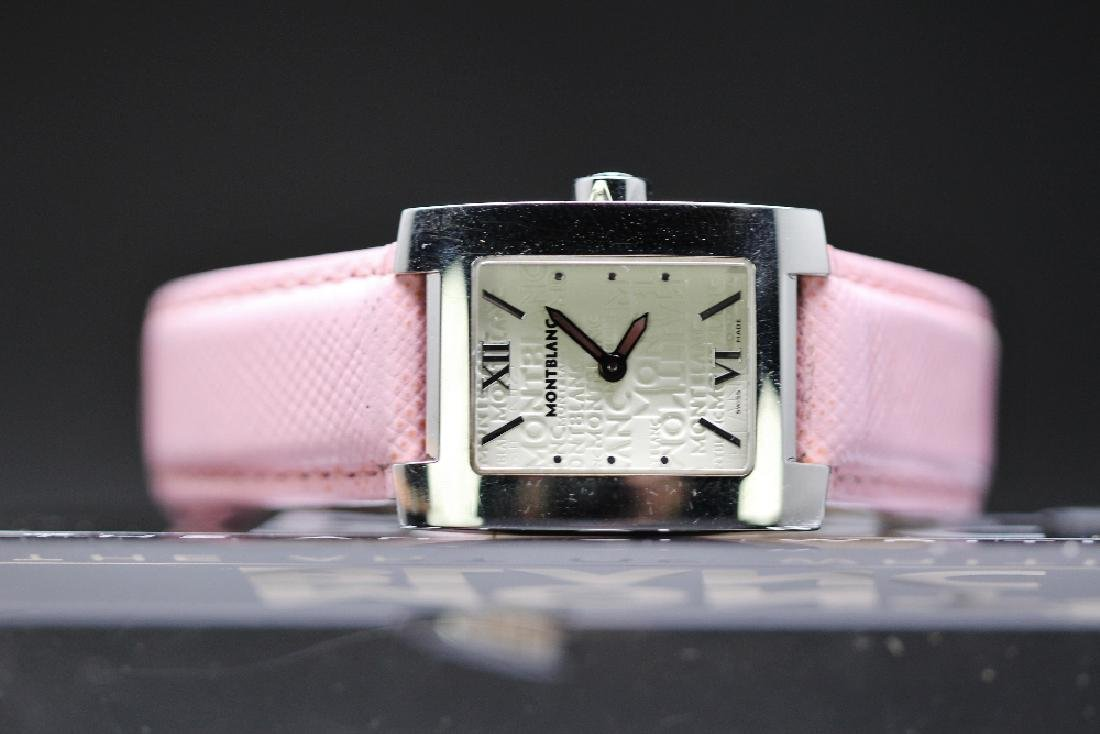 A ladies Montblanc 7047 watch, pink strap, RRP £749