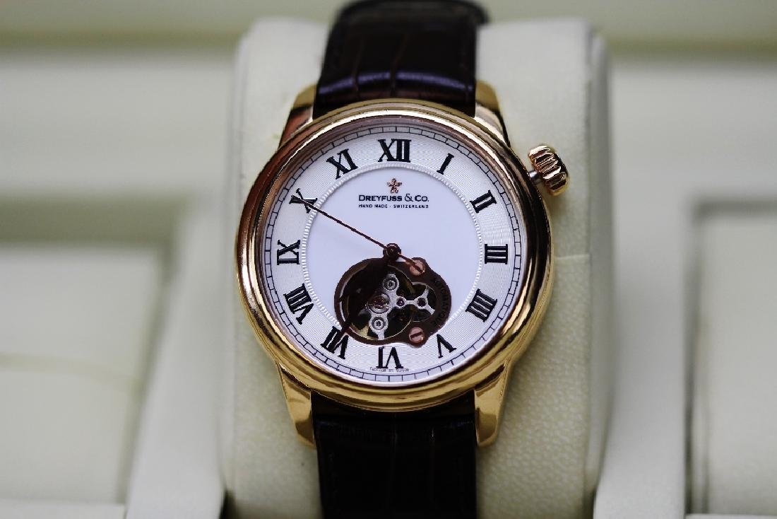 A Dreyface & Co 1925 Automatic rose gold pvd watch RRP