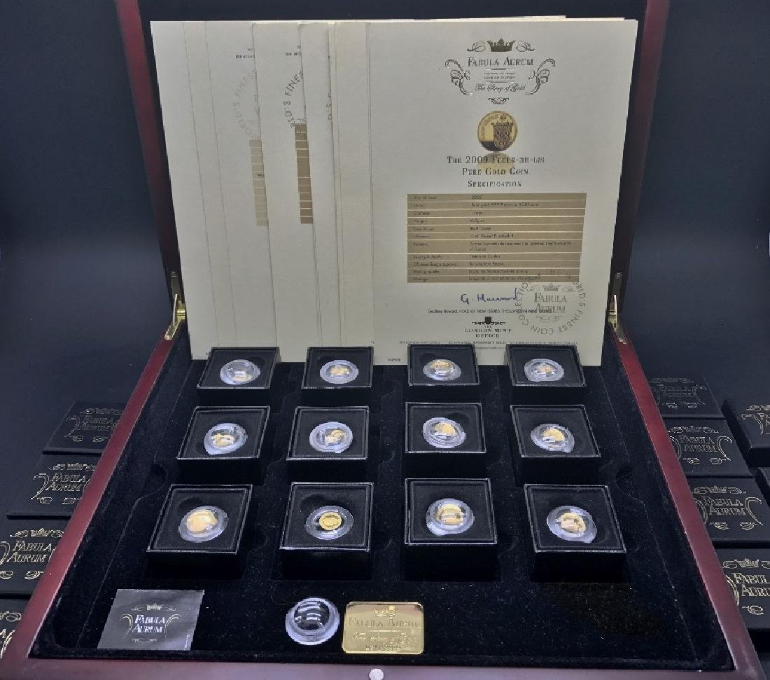 A Full Set of Fabula Aurum .999 pure gold coins, in