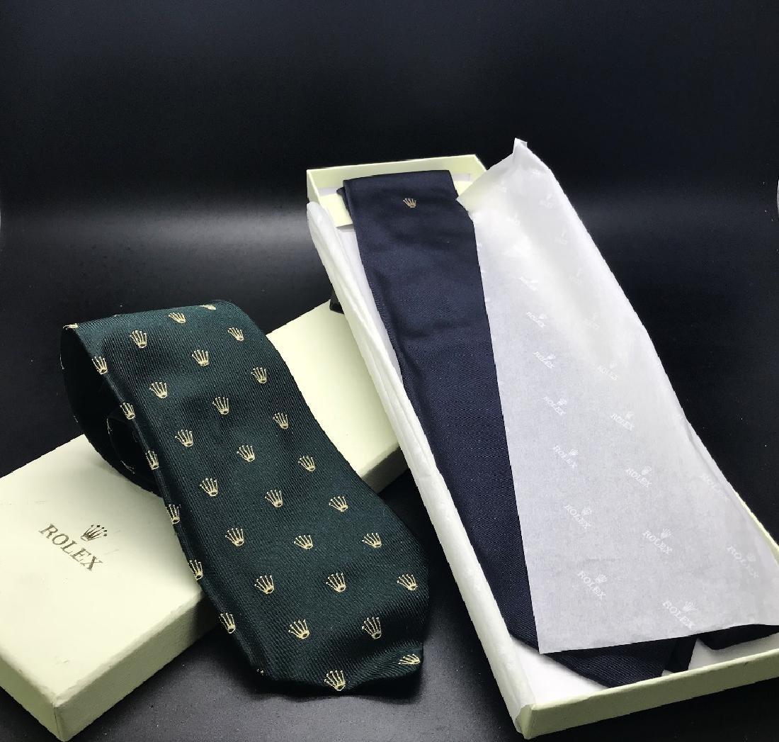 A pair of silk Rolex ties, RRP-£249 each