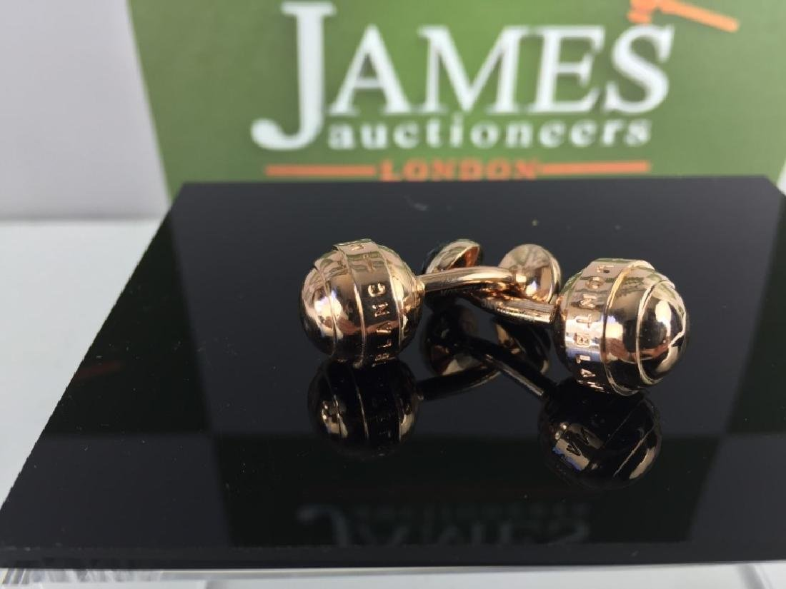 A Pair Of Rare Rose Gold Finish Mont Blanc Cufflinks