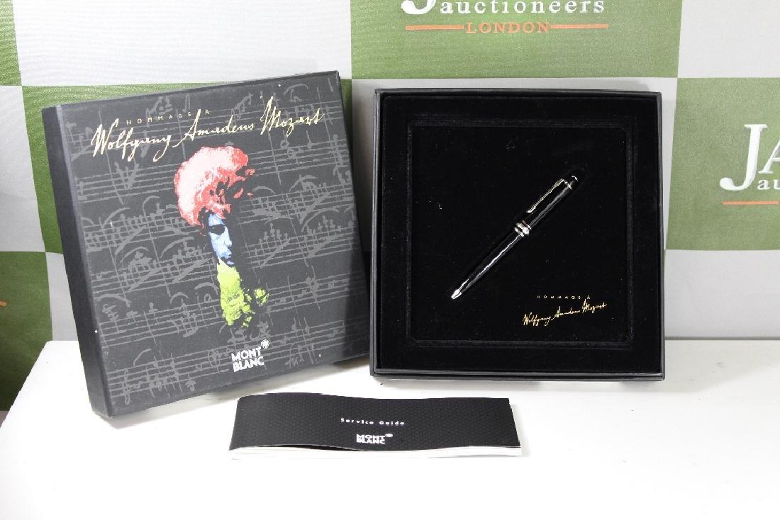 Montblanc Mozart solitaire platinum line pen, ltd