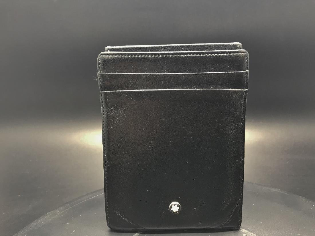 Genuine Montblanc leather credit card holder