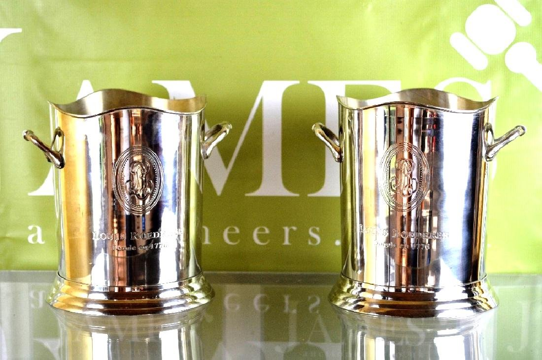 A pair of hallmarked Louis Roederer Ice buckets