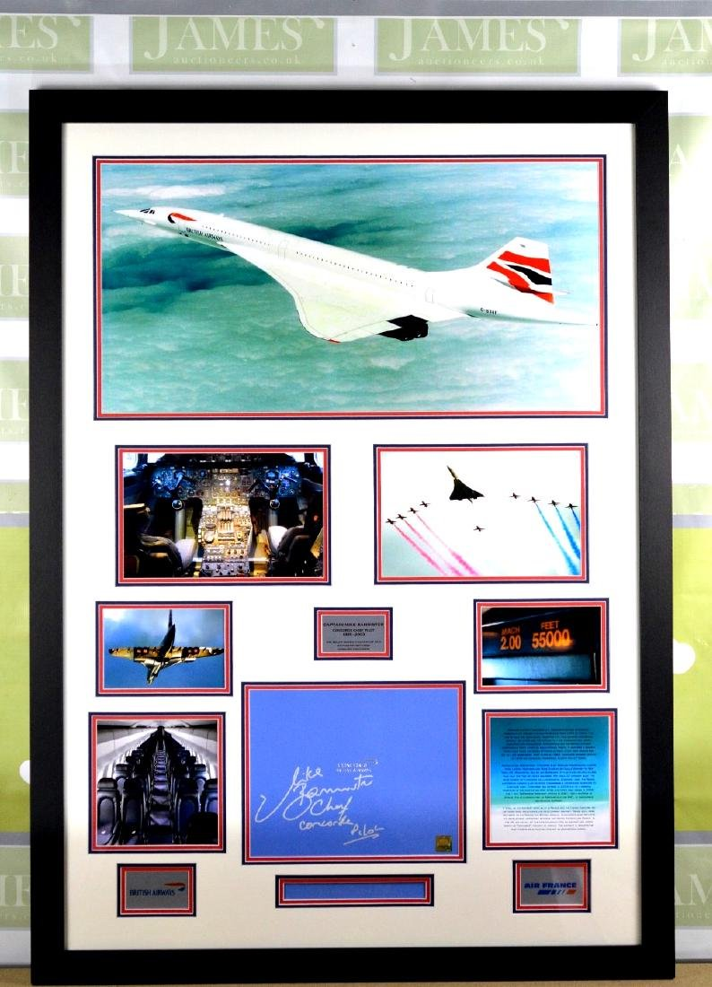 Smythson of London Montage of the concorde with