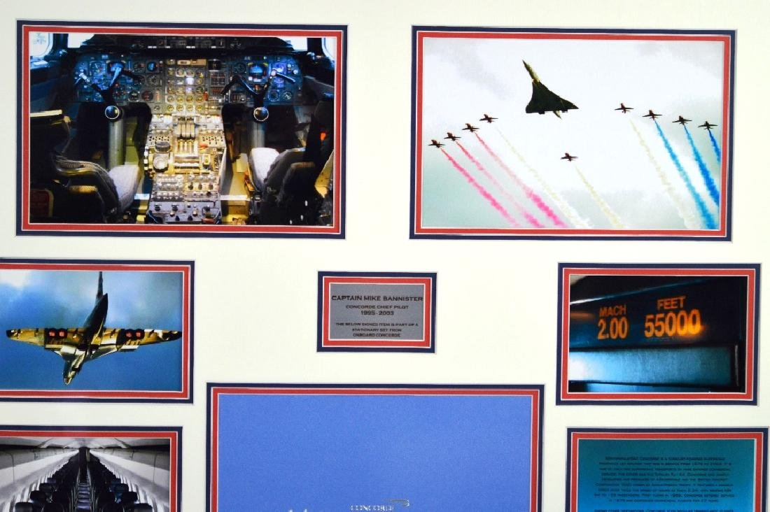 Smythson of London Montage of the concorde with - 2