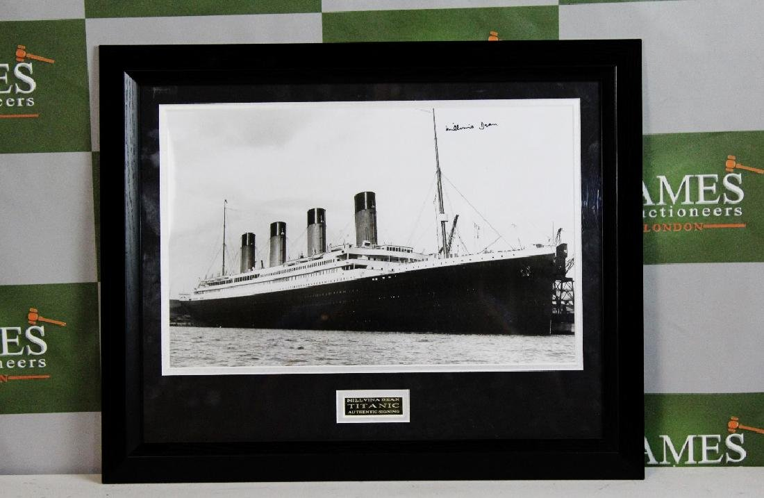 Survivor of the Titanic-Millvina Dean signed framed