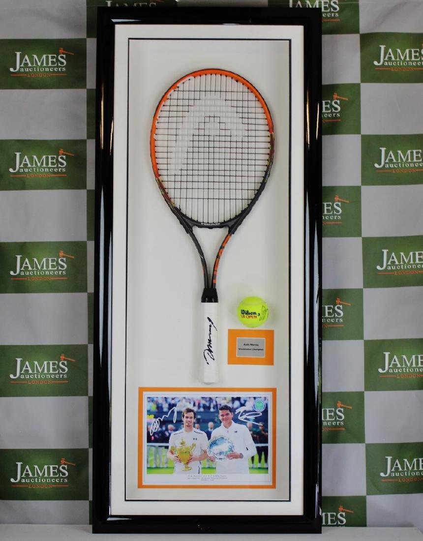 Andy Murray Wimbledon & 2 time Olympic champion signed