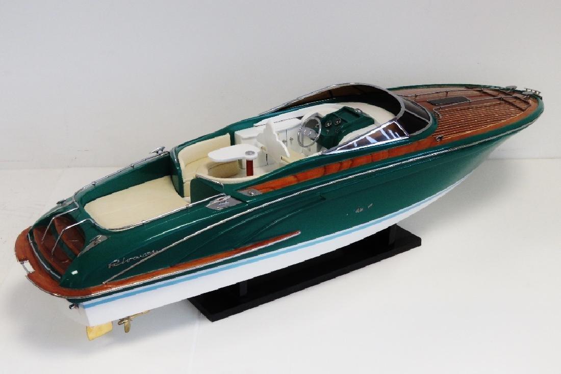 A finely detailed handmade, Rivarama motor launch,