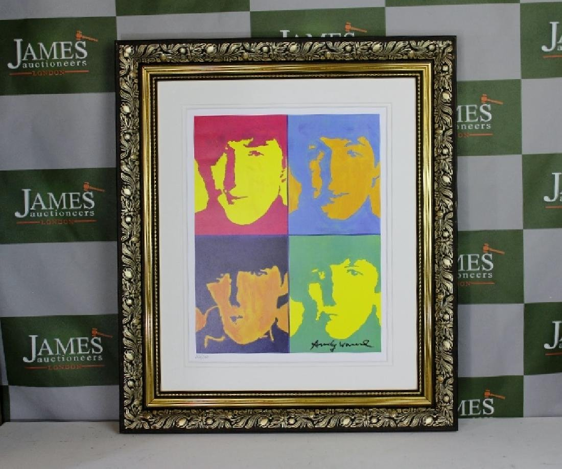 "Andy Warhol ""The Beatles"" plate signed & numbered"