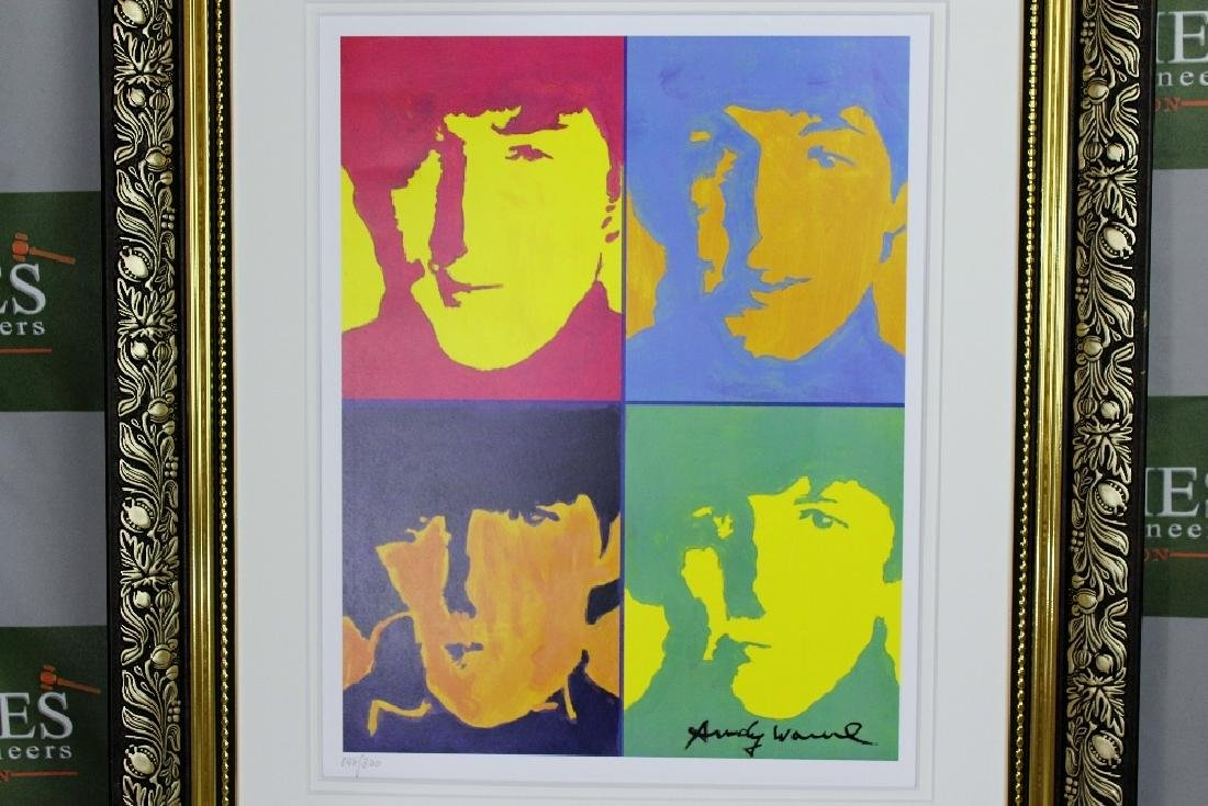 "Andy Warhol ""The Beatles"" plate signed & numbered - 2"