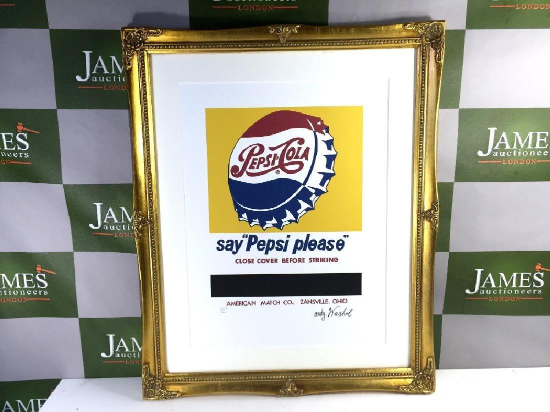 Andy Warhol-rare Pepsi classic lithograph 3054/5000,