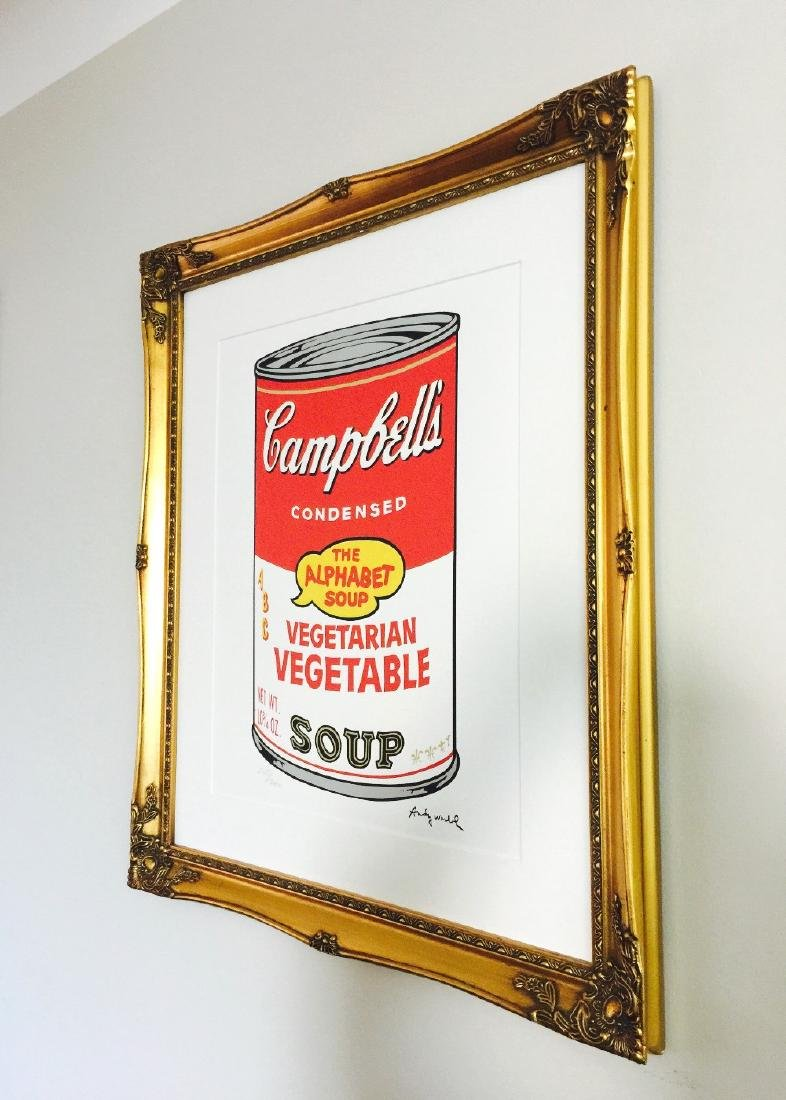 "Large 28 x 24 Andy Warhol - ""Campbell Soup"" lithograph, - 3"