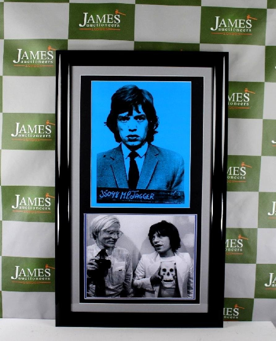 Rare Andy Warhol - Mugshot of Rolling Stones frontman