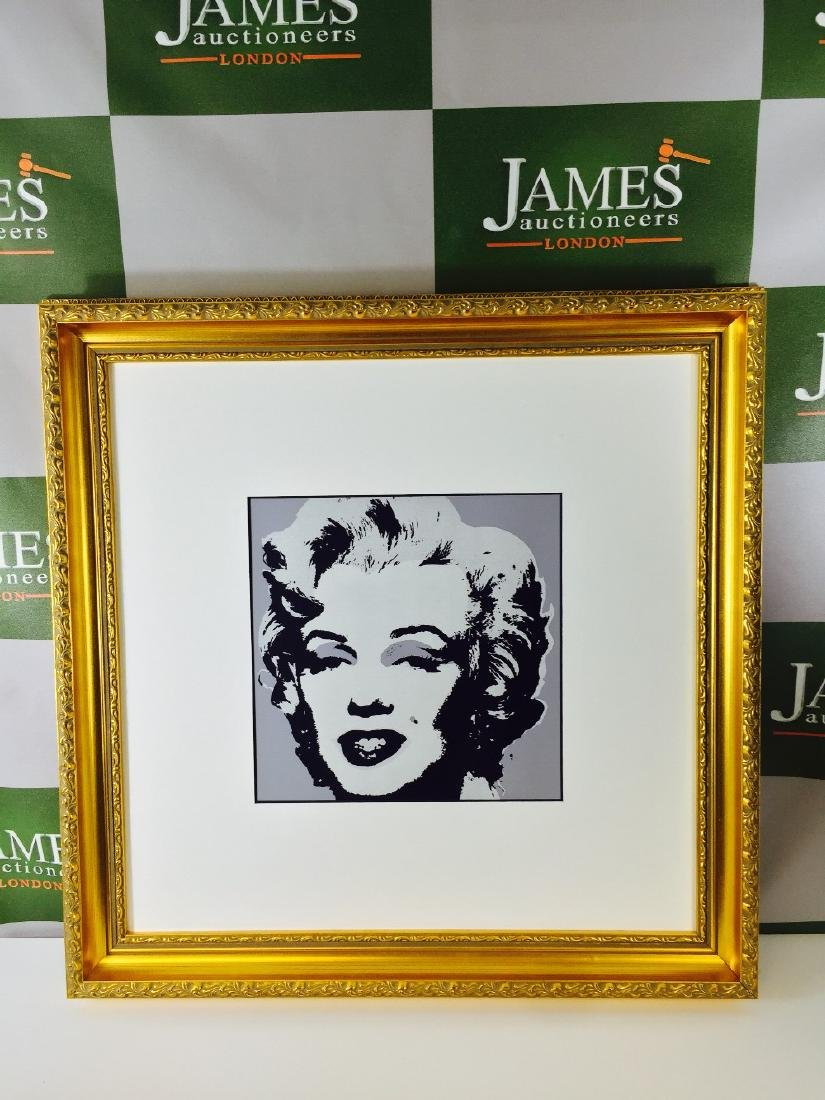 "Andy Warhol ""Marilyn"" ornate framed, 20 x 20 inch, 1987"