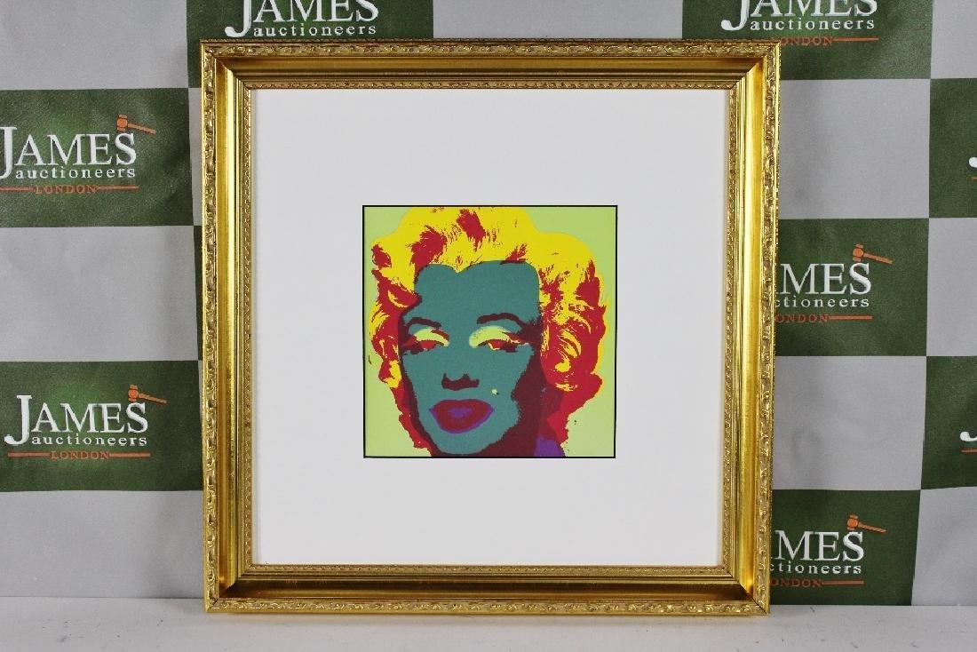 """Andy Warhol """"Marilyn"""" ornate framed, 20 x 20 inch, 1987"""