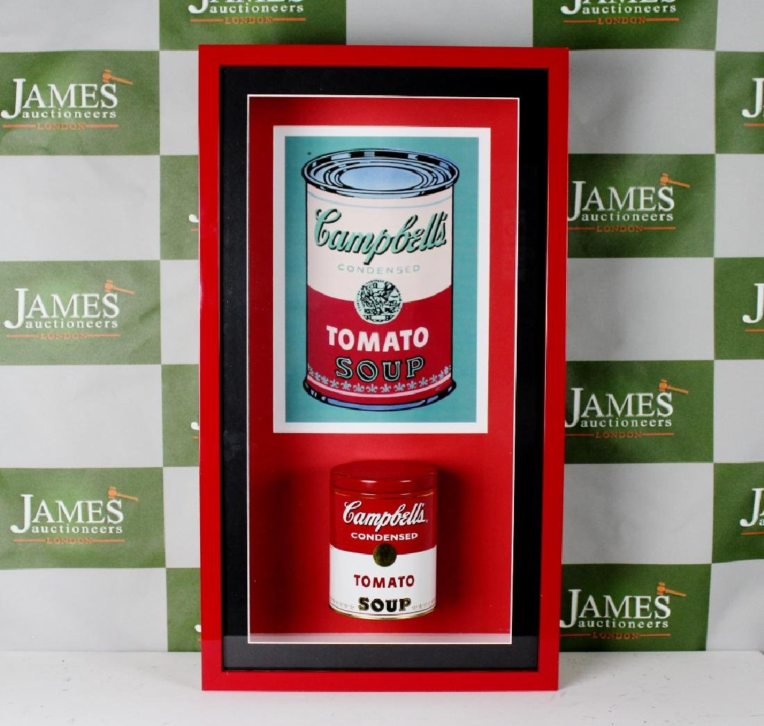 Andy Warhol -an original 1960`s Campbells soup tin in