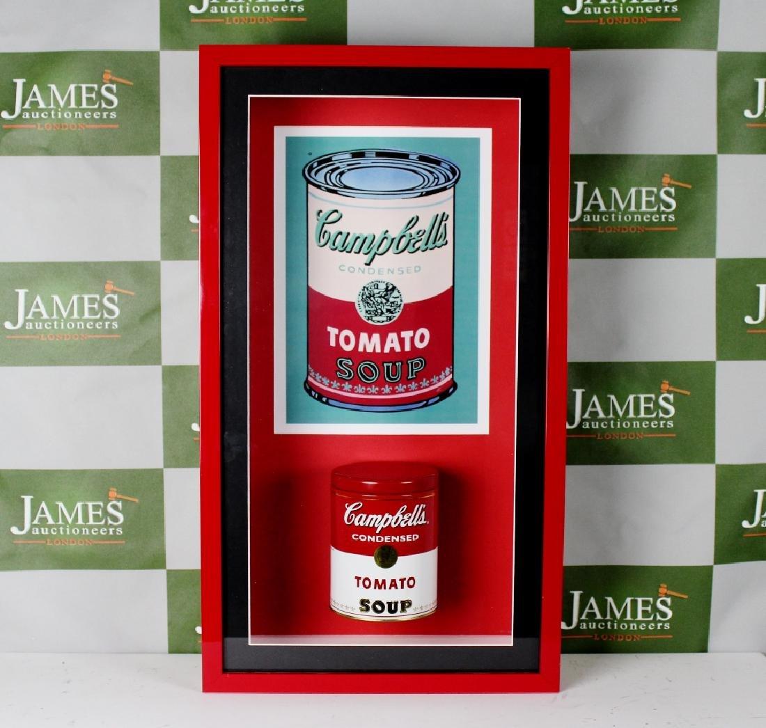 Andy Warhol -an original 1960`s Campbells soup tin in