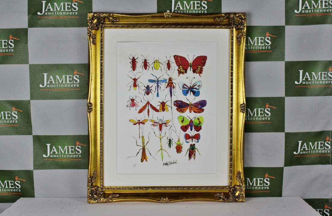 "Andy Warhol ""Butterfly"", ornate framed, ltd edition"