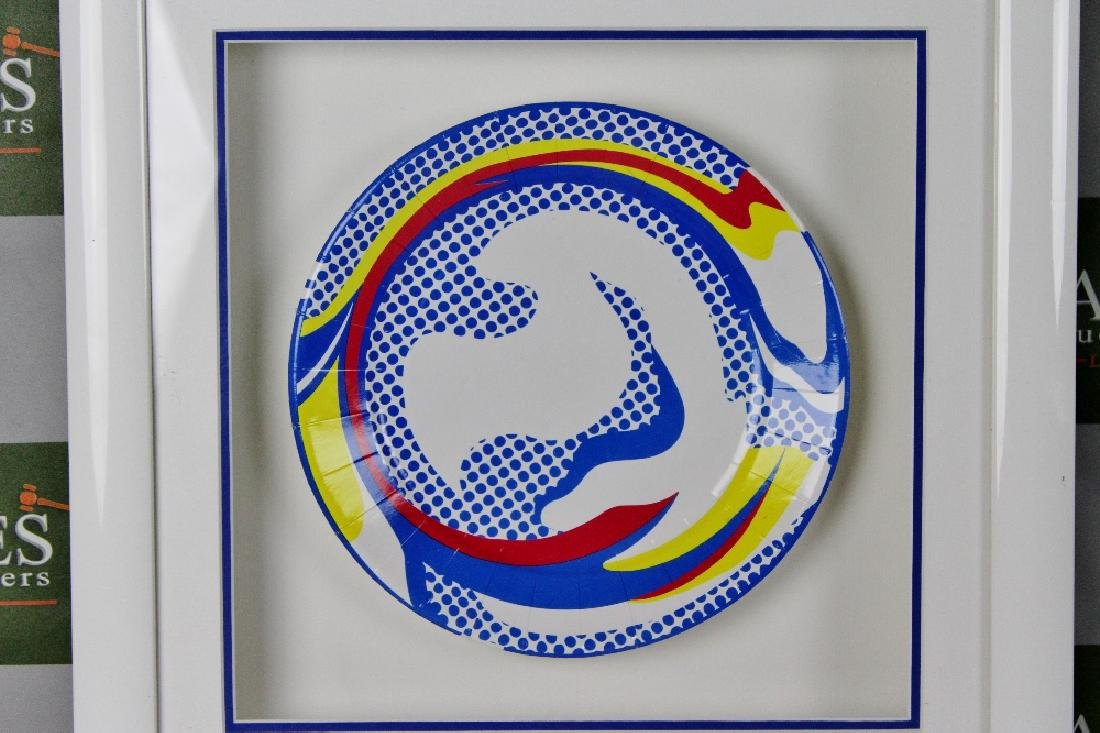 """Roy Lichtenstein 1969 """"Paper Plate"""", Serigraphy , RRP £ - 2"""