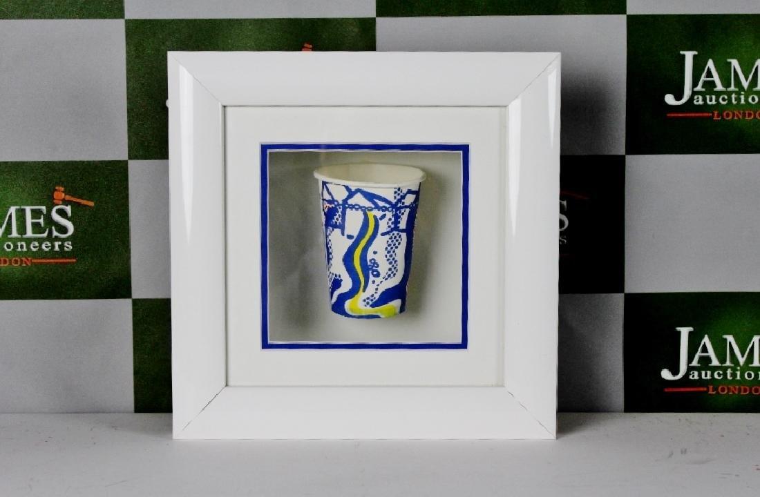 """Roy Lichtenstein  1967 """"Paper Cup"""" Serigraphy"""