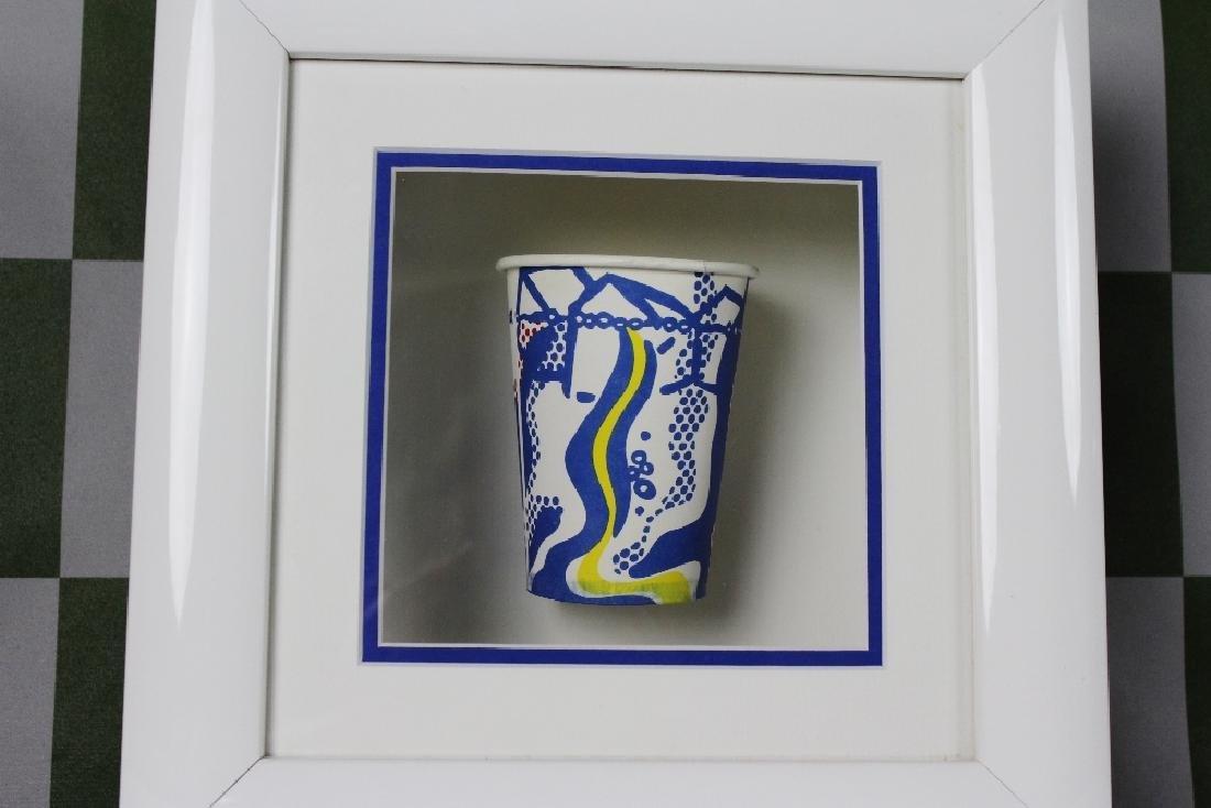 """Roy Lichtenstein  1967 """"Paper Cup"""" Serigraphy - 2"""