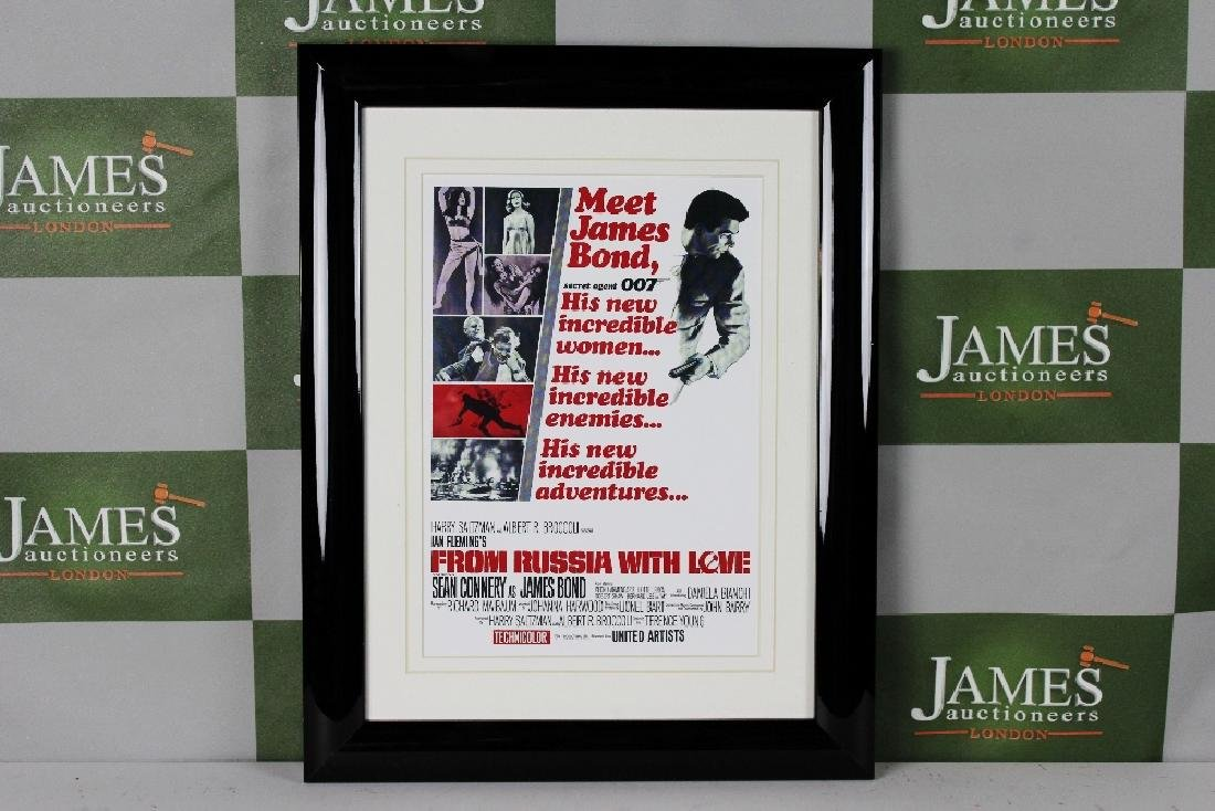 James Bond 007 professionally framed retro  movie promo