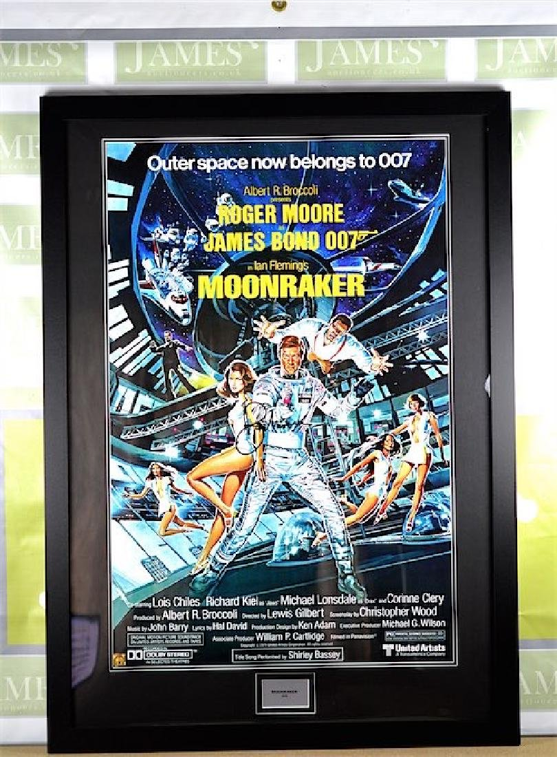 A James Bond 007 Sir Roger Moore Moonraker Signed Promo