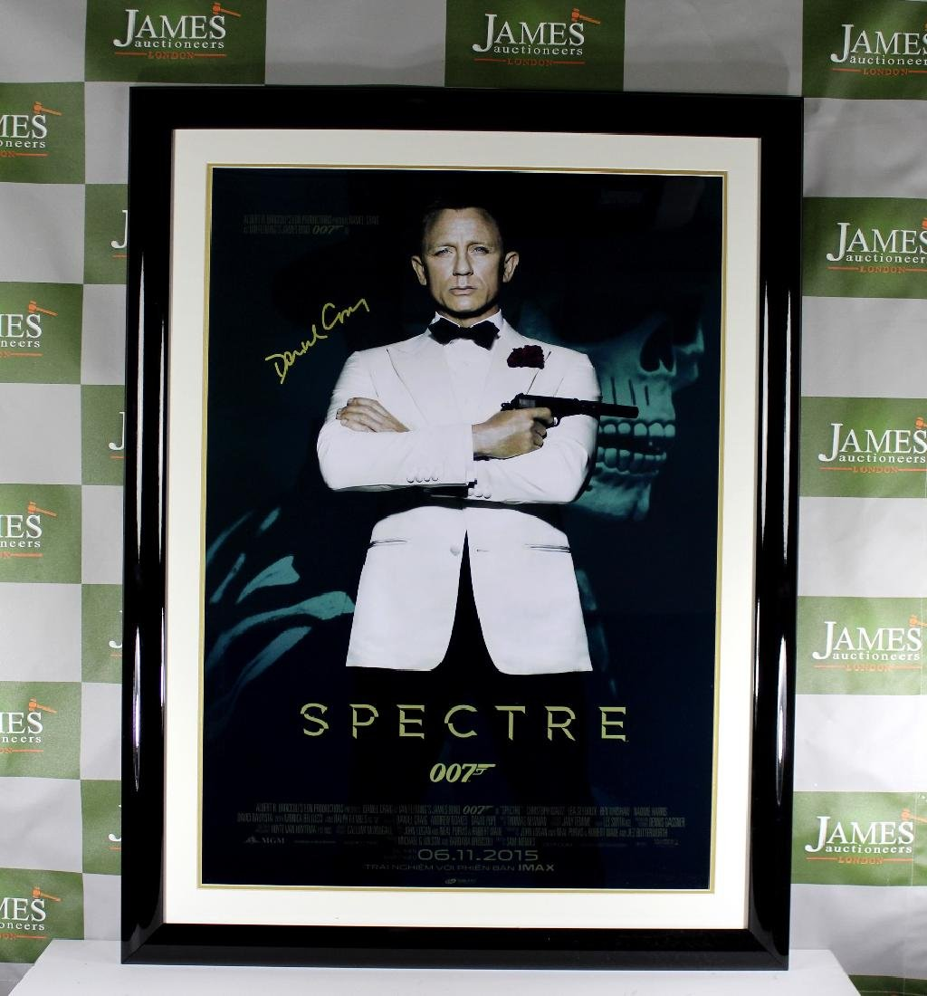 "A signed ""Spectre"" full size James Bond - Daniel Craig"