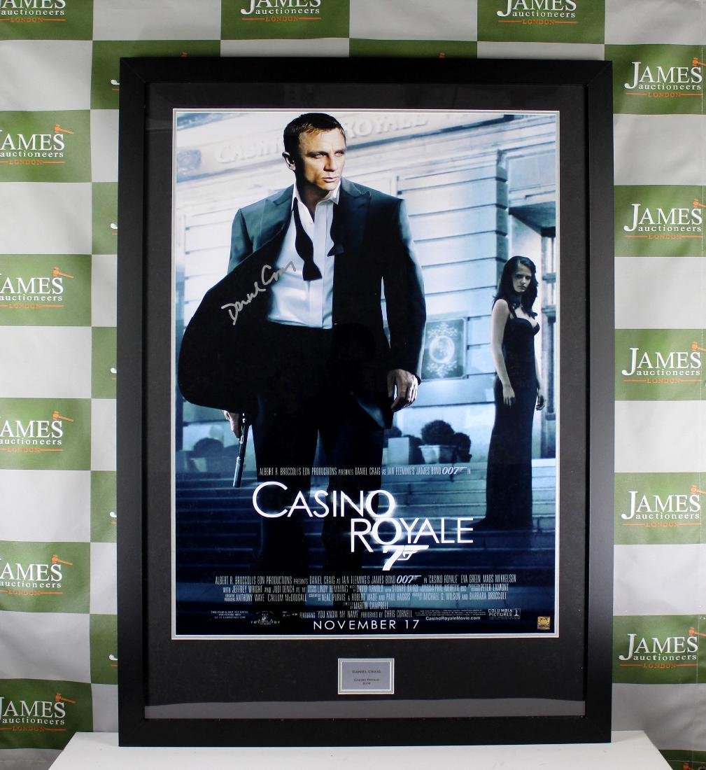 "A Signed ""Casino Royale"" James Bond - Daniel Craig"