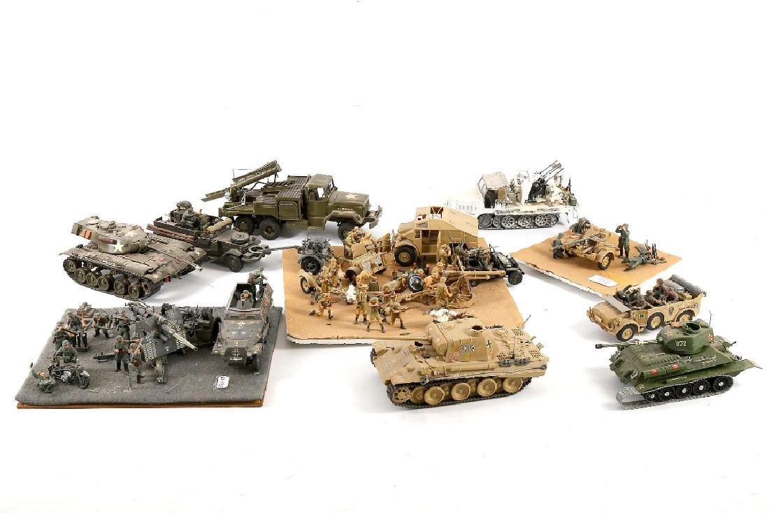 large collection of 1960's / 70's military models of