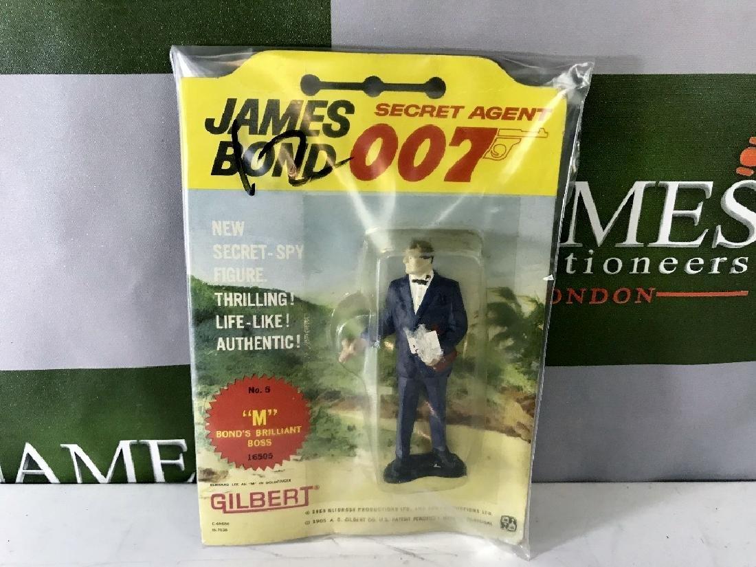 Gilbert James Bond 007 M No 5 Figure On Card