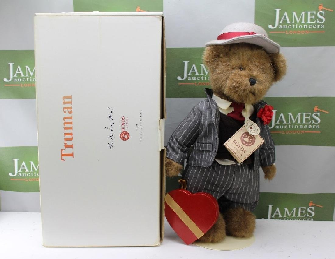 A Boyds Heirloom Series Truman Teddy bear, produced for