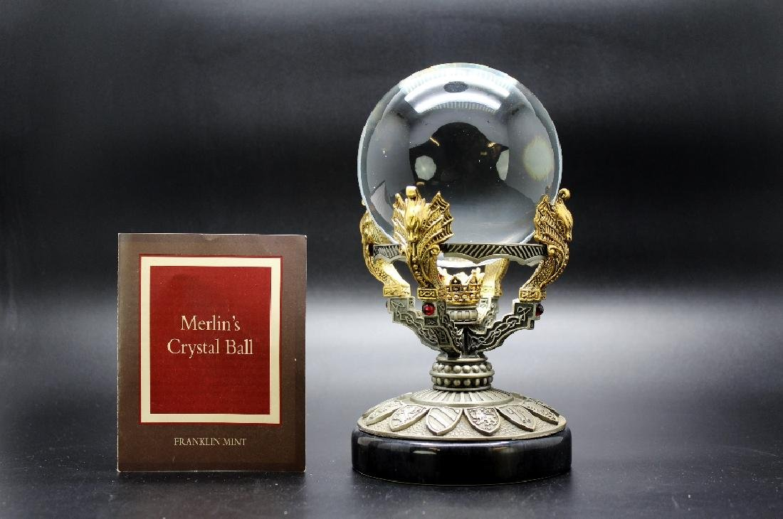 "A Franklin Mint ""Merlin`s Magic Crystal Ball"""