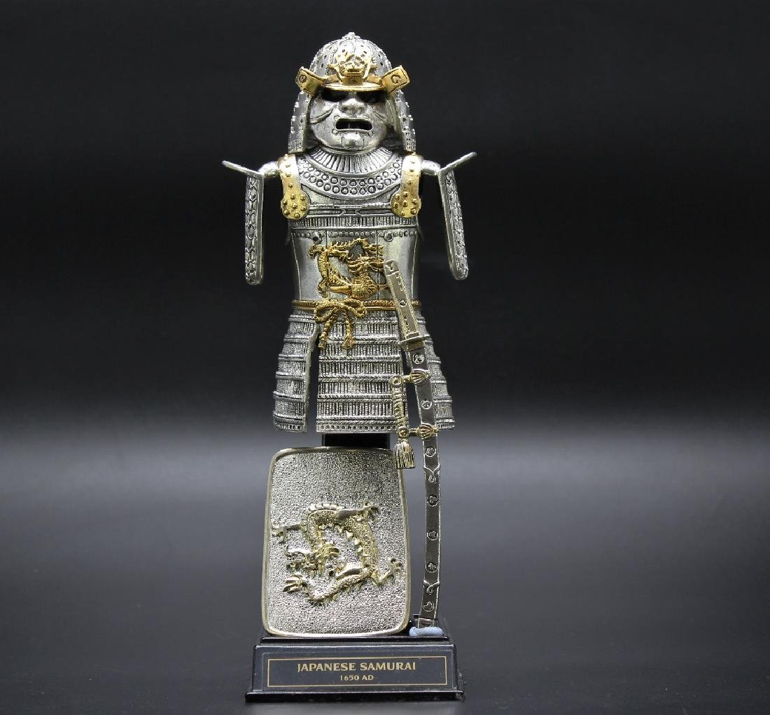 Franklin mint-Japanese Warrior,gilt pewter/plated gold
