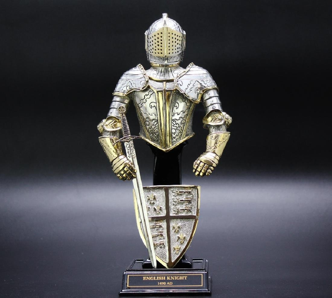 Franklin mint-English Knight,gilt pewter/plated gold &