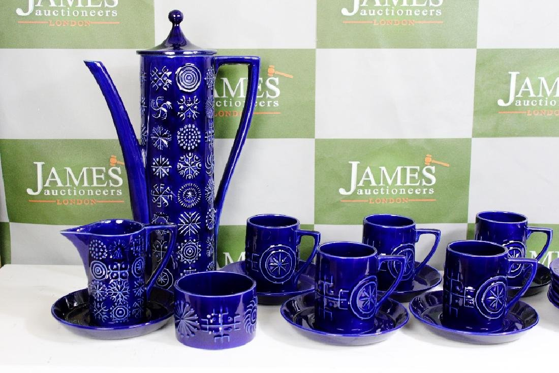 A Portmeirion Totem Coffee Set Comprising Six Trios,