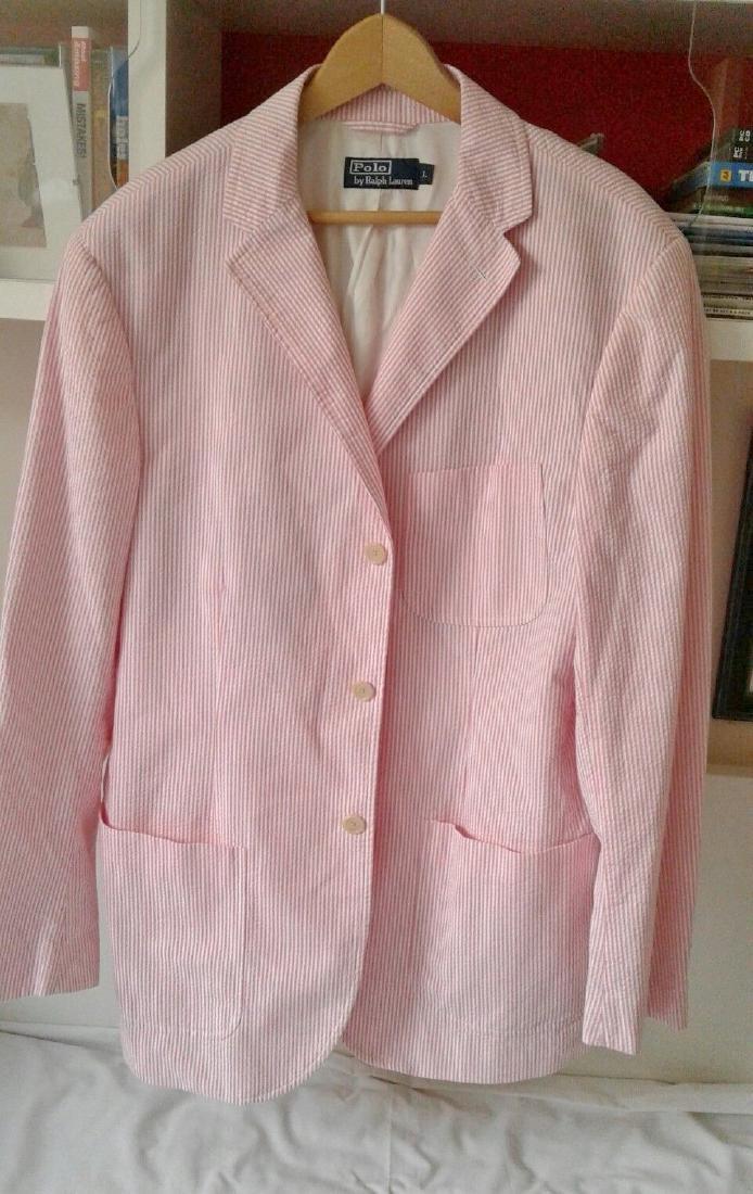 Ralph Lauren Summer pink pinstrip jacket, silk lining,