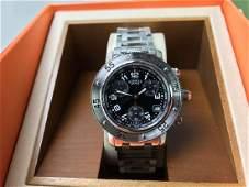 lady's Hermes Clipper chronograph bracelet watch, RRP-