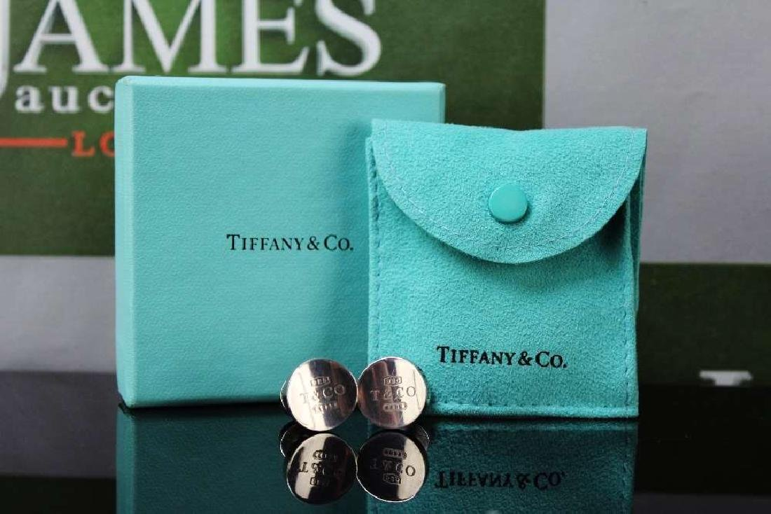 Tiffany & Co 1836 sterling silver concave circle