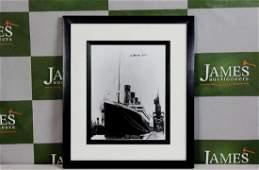 Survivor of the Titanic-Millvina Dean signed framed,