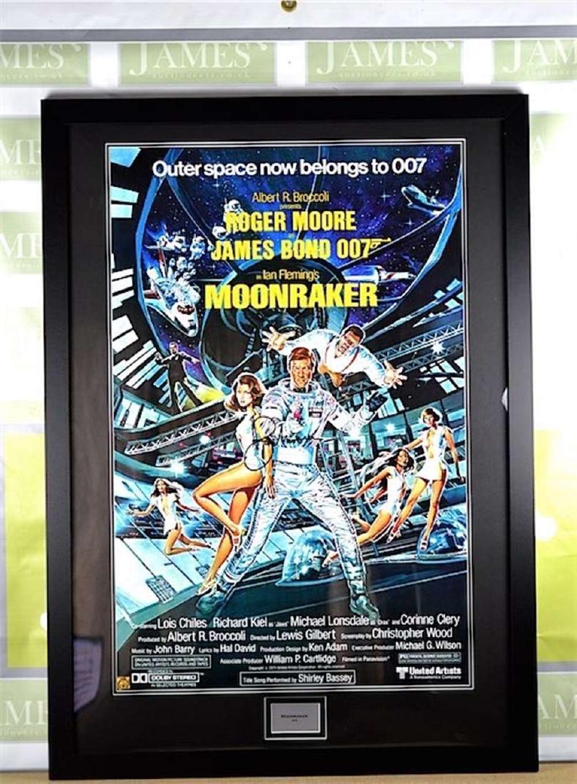 A James Bond 007 Sir Roger Moore Moonraker Signed Promo